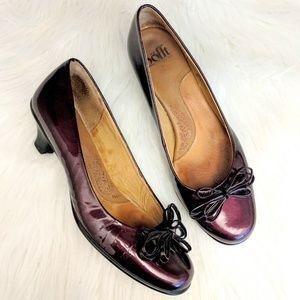 Sofft Purple Patent Leather Pumps Size 7.5 M